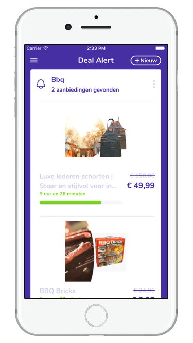 Deal Alert app Deals Screenshot